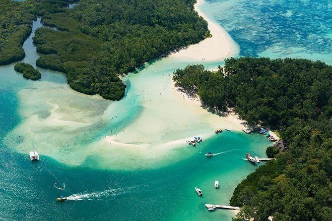 3 Watersports + Ile aux Cerfs Speedboat Cruise + BBQ Lunch & Drinks + Waterfall