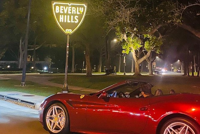 1HOUR FERRARI CALIFORNIA driving Tour from Hollywood to Beverly Hills