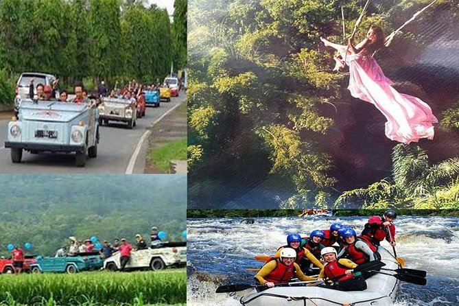 Combination Adventure Tour:Volkswagen (VW), Swing Bali and Rafting