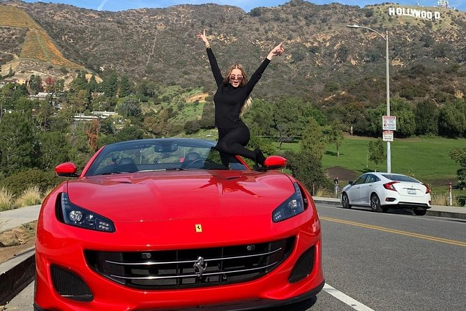 30-Minute PRIVATE Ferrari California Driving Tour To Hollywood Sign