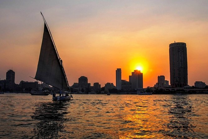 Private Egyptian Felucca ride on the Nile at sunset in Cairo photo 3