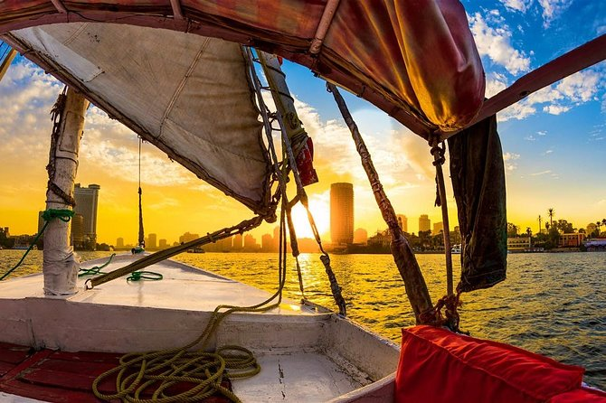 Private Egyptian Felucca ride on the Nile at sunset in Cairo photo 4