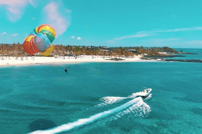 3 Watersports + Ile aux Cerfs Speedboat Cruise + BBQ Lunch & Drinks + Waterfall