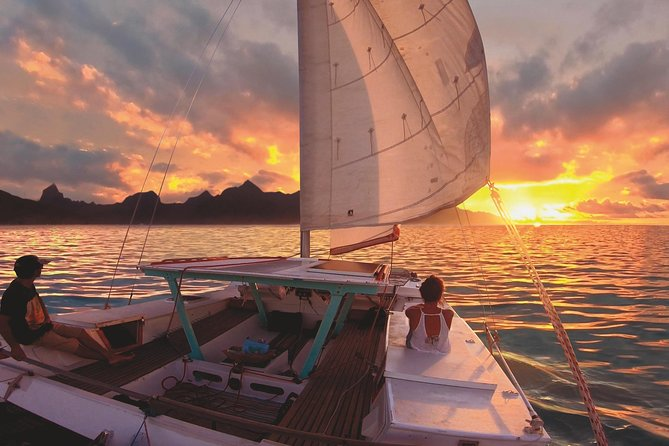 Sunset Cruise : Moorea Sailing on a Catamaran named Taboo