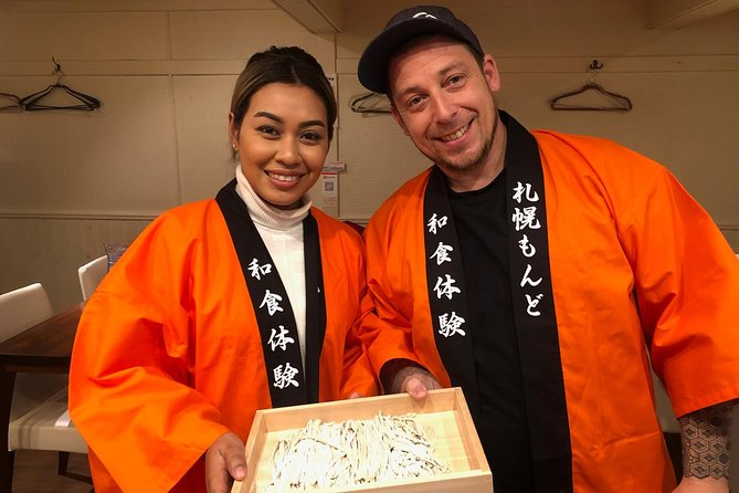 In the center of Sapporo! Soba making experience and three types of Hokkaido sake comparison plan