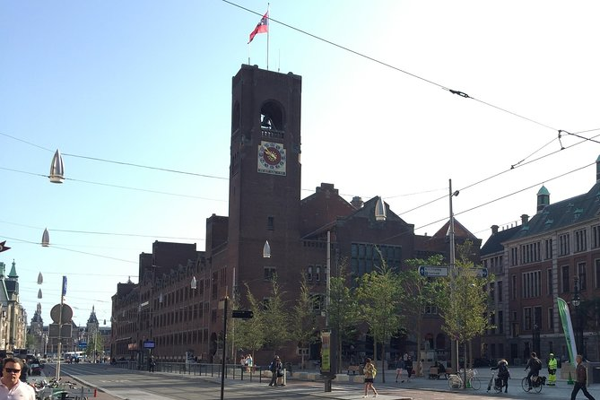 Clock tower above meeting point Buersplien 5