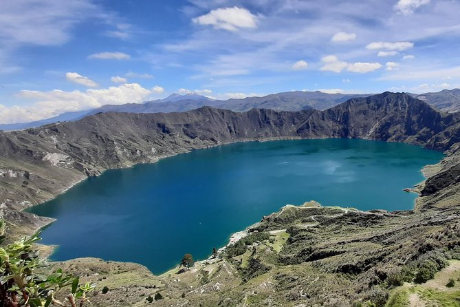 Quilotoa Tour one day; view of the Toachi River Canyon, hike to the Laguna, Tigua
