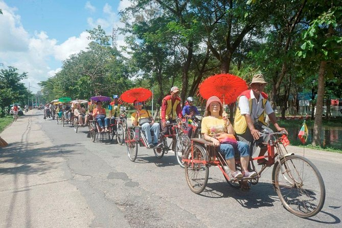 Share Tour Yangon with Trishaw ride experience on the other side of Yangon