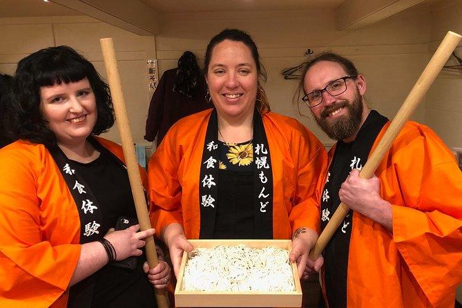 In the center of Sapporo! Handmade soba experience and Hokkaido seafood shabu-shabu experience plan