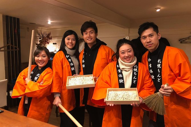 Feel free to experience soba making in the center of Sapporo.