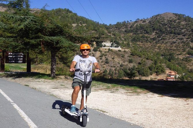 Exploring rural Cyprus on our electric scooter