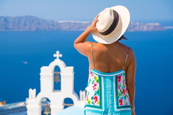 Tour privato di mezza giornata Santorini Blue Dome