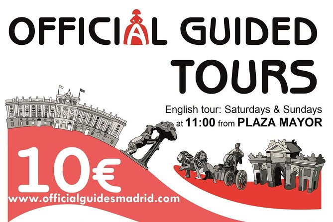Walking tour Madrid with Official Guides 10€. English speaking guide