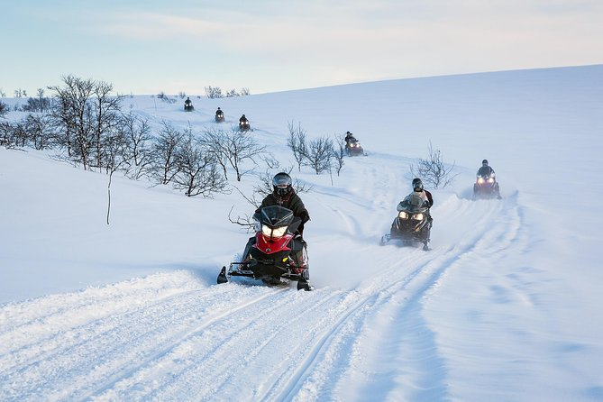 Snowmobile safari in the mountain plateau of Finnmarksvidda photo 1
