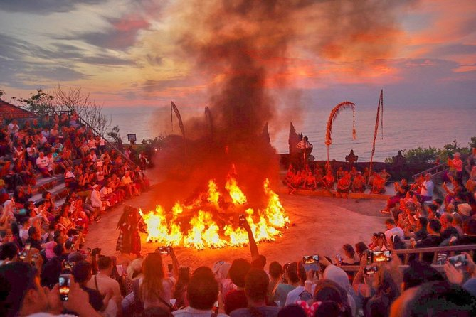 Incredible sunset and kecak dance