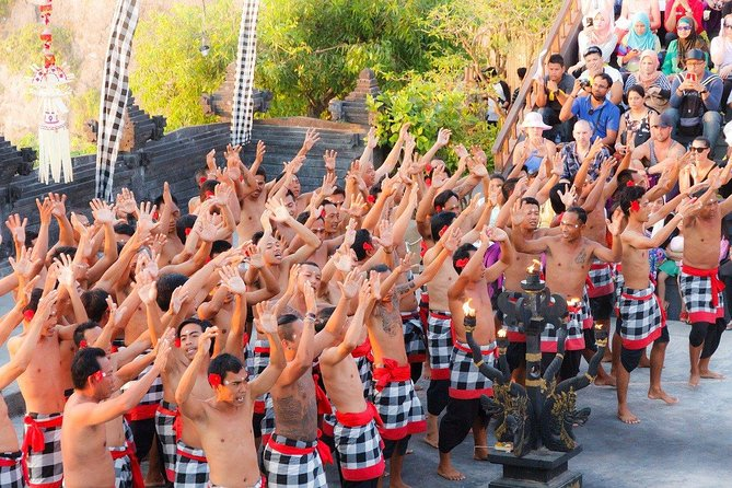1 DAY 8 hours of fantastic Kecak dance private tour with sunset at Uluwatu Temple / Relaxing time at the beach of movie location! With English / Japanese driver
