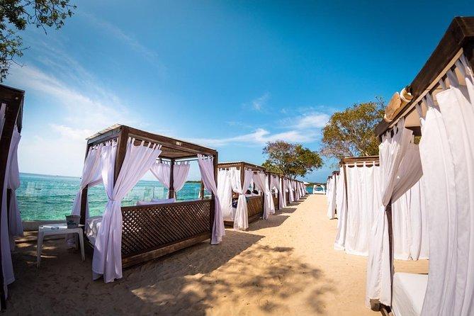Día completo en un club de playa en las islas del Rosario