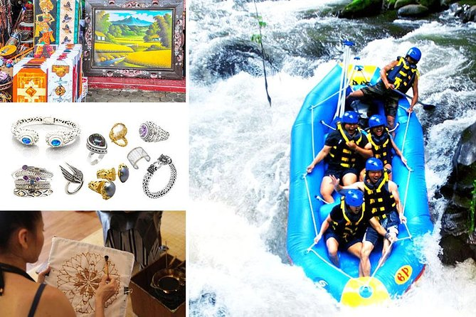 Full-Day Rafting Adventure in Ayung River and Shopping Tour Packages