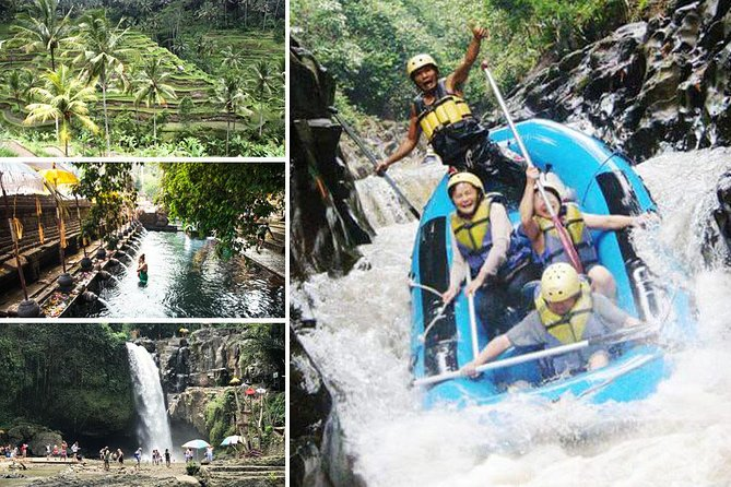 Full-Day Rafting Adventure in Melangit River and Tirta Empul and Tegenungan Tour