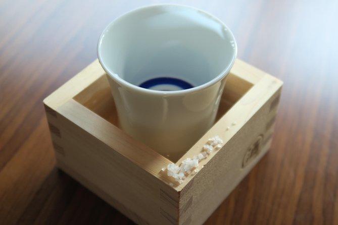 Happy Sake set! (sake with traditional masu & Guinomi cups as souvenirs)