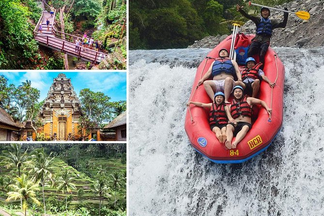 Full-Day Rafting Adventure in Telaga Waja River and Ubud Tour