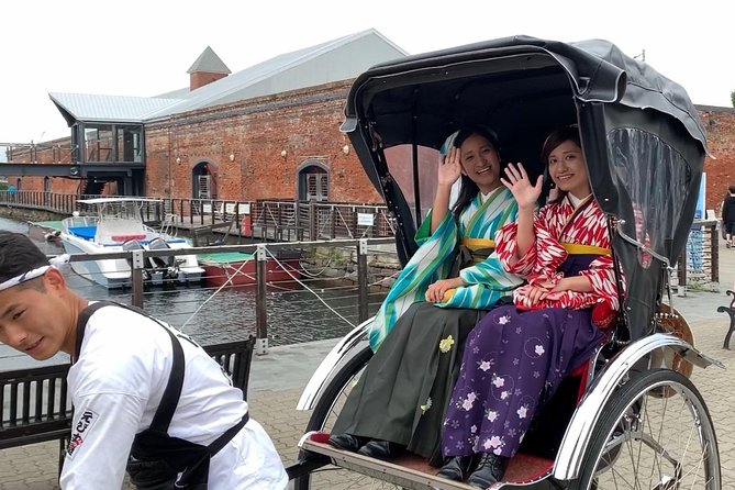 Travel Back to the 19th Century and Tour Hakodate on the Rickshaw Wearing Hakama