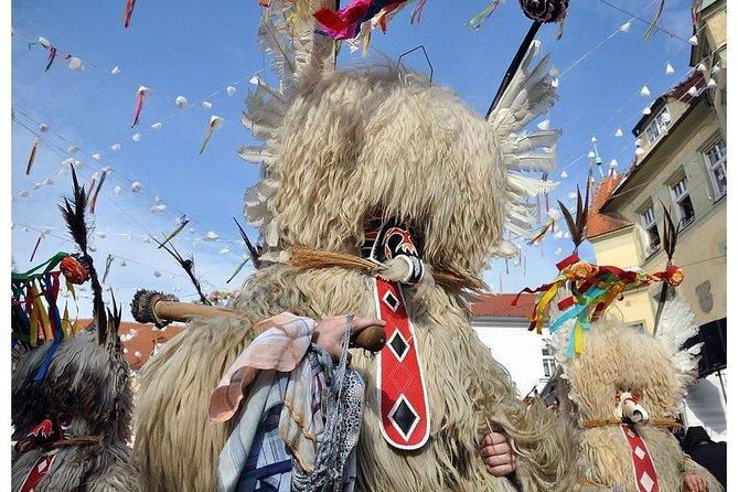 European capital of carnival 2020 - KURENTOVANJE, Ptuj, Slovenia. Day Tour