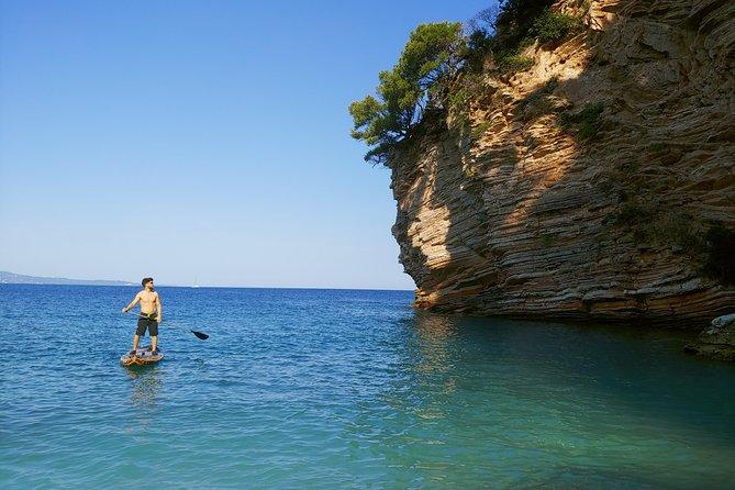 Paddleboarding in the islands of Ksamil