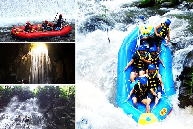 Full-Day Rafting Adventure in Ayung River and Bali Best Waterfalls Tour
