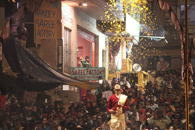 Evening Arti Ceremony - The light performance on the Bank of Ganges in Varanasi