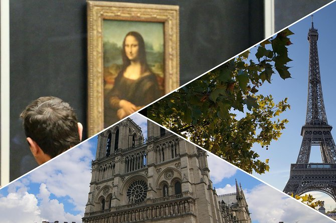 Paris in a Day Tour with Louvre, Notre Dame, Eiffel Tower and Montmartre
