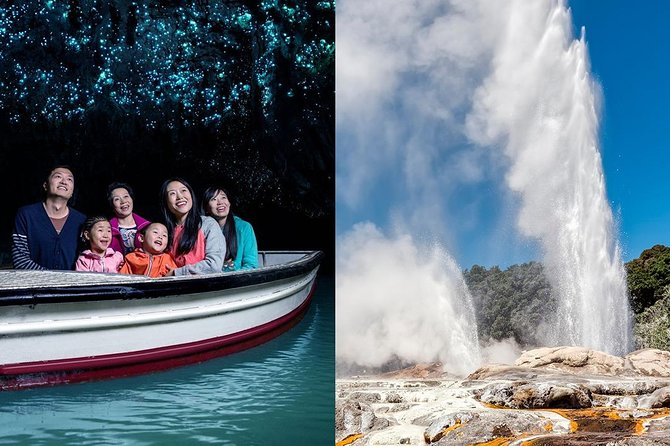 Waitomo Caves & Rotorua Small Group Tour including Te Puia from Auckland