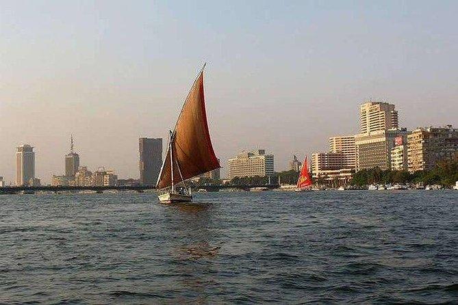 Cairo layover Giza Pyramids ,River Nile felucca sailboat and camel ride