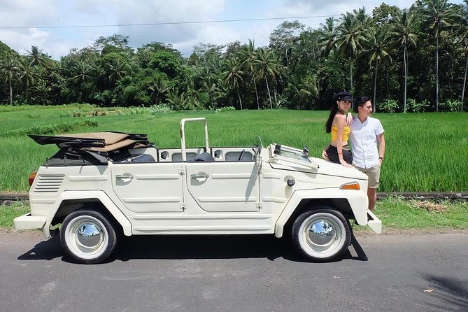 Bali swing Pioneer and Volkswagen Cabrio Romantic Tour to the waterfall