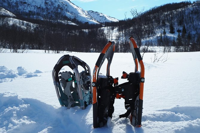 Snowshoeing and ice fishing in a lake outside Alta photo 7