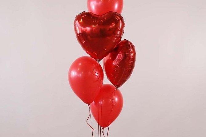 Paris heart balloons bouquet hotel delivery