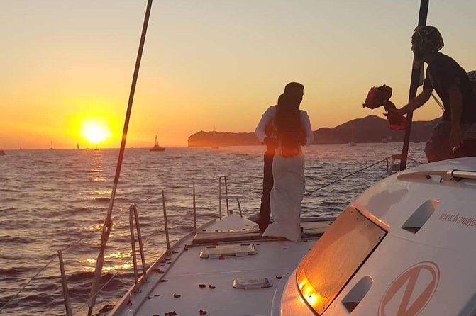 Full Day Hybrid Luxury Catamaran Sailing Cruise 2 islands + walking tour