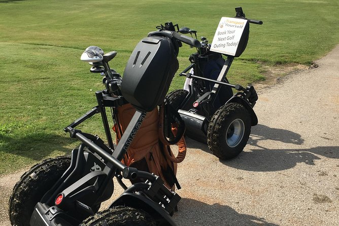 Golf Bag is mounted to Segway