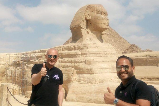 Giza Pyramids and Sphinx with camel ride