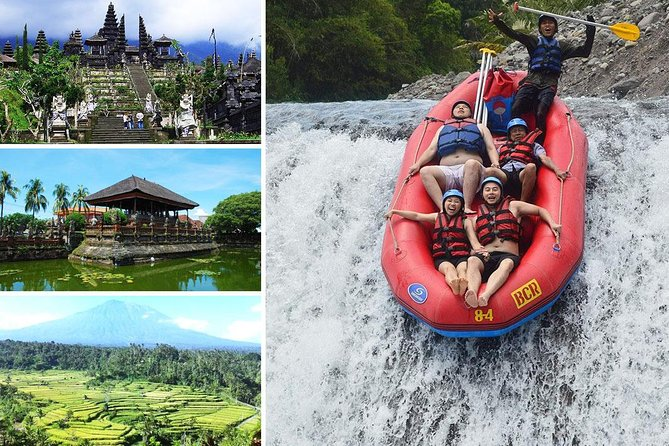 Full-Day Rafting Adventure in Telaga Waja River and Exploring Tour to Besakih