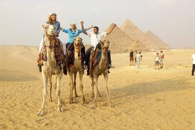 Sunset Camel Ride and Light Show from Cairo