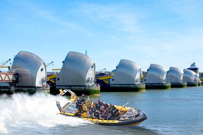 Thames Barrier Speedboat Experience to/from Embankment Pier - 75 minutes