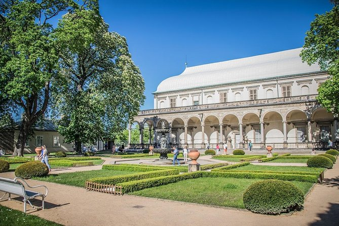 Green walk in Prague`s historic garden and parks with a Local