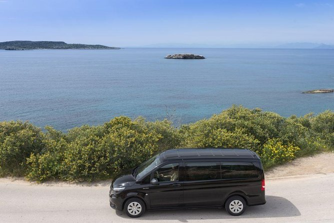 Departure Private Transfer from Island to Corfu Airport CFU or Port by Minivan