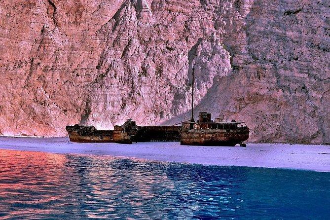 Zakynthos yacht half day cruise Shipwreck & Blue Caves