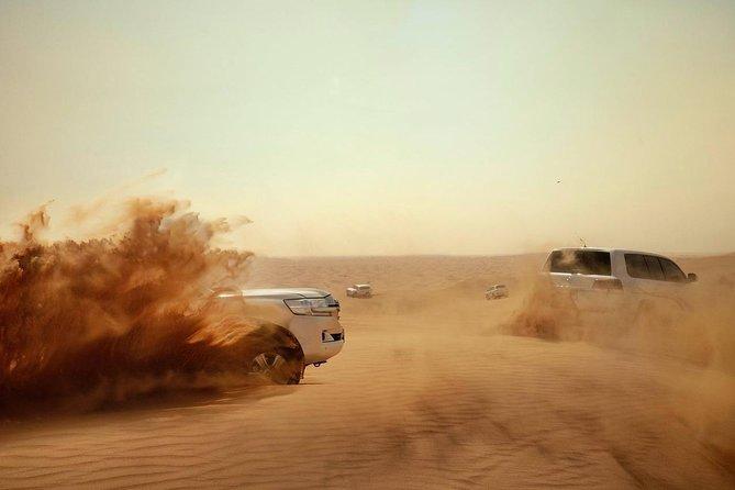 Dubai Evening Desert Safari with Camel Ride + BBQ Dinner