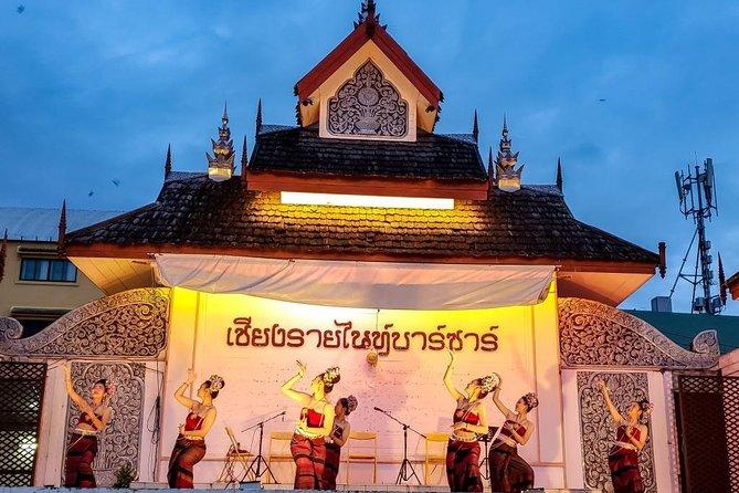 Chiang Rai på kvällen med Show, Dinner and Trishaw Ride