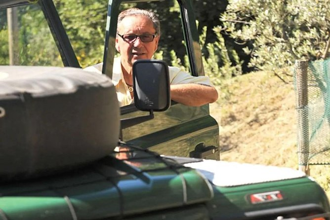 Off-road vehicle in Tuscany with wine tasting