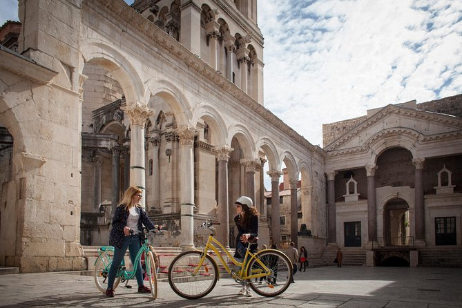 Cycling through the Old city of Split