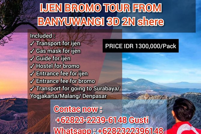 Ijen crater tours shere
